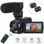 """Video Camera Camcorder Digital Camera Recorder With Microphone 1080P 30FPS 24MP 3"""" Lcd 270 Degrees Rotatable Screen 16X Digital"""