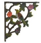 Import Whole S Decorative Cast Iron Wall Shelf Bracket Bird On Branch Color 7.625 Deep