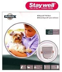 Staywell Big Cat Small Dog 4 Way Locking Pet Door White 280EFS