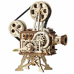 Rowood 3D Wooden Puzzle Toy For Adults Handheld Film Projector Craft Kit - Vitascope