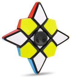 FanXin Fidget Spinner Plus 1X3X3 Speed Cube 2 In 1 Stickerless Brain Teasers Magic Puzzle Spinning Top Cube