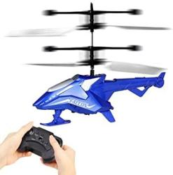 Remote Control Aored Aircraft Drone Helicopter 2-CHANNEL Drop-resistant Toy Quadcopter Children's Best Birthday Indoor And Outdoor Children's Toy Color : Blue