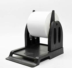 Thermal Label Holder For Rolls And Fan-fold Labels Great For Desktop Printers Label Holder Black