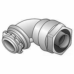 O-Z GEDNEY Oz gedney 4Q-9125 1 1 4 In 90 Degree Liquidtight Grounding Connector