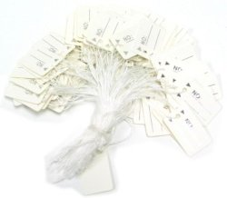 DisplayImporter White String Price Tags - Pack Of 100