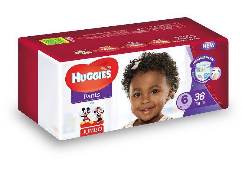Huggies 38 Nappy Pants Size 6 Jumbo Pack