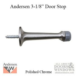 Andersen Windows 3-1 8 Door Stop Andersen Frenchwood Hinged - Polished Chrome