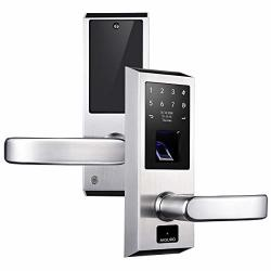 AIGURD Fingerprint Door Lock Stainless Steel Keyless Entry Door Lock Biometric Door Lock Keyless Door Lock Keypad Door Lock Digital Smart Door Lock Keypad