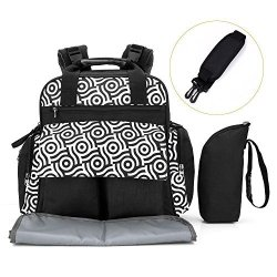 Pavlit Nappy Diaper Backpack 18.5L Capacity Baby Changing Bag With 14 Packing Cubes Zip-top Closure Changing Mat Pushchair Strap