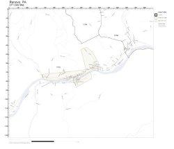 Working Maps Zip Code Wall Map Of Renovo Pa Zip Code Map Laminated