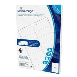 Mediarange MRINK146PERMANENT Adhesive Labels Self-adhesive Tapes White Label Permanent 99.1X 38.1700PI Ce White S A4 Matt Laser inkjet