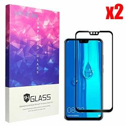 9H Hardness Tempered Glass Screen Protector Anti Scratch Screen Protector Glass for Huawei Y5 2019 Bear Village Screen Protector for Huawei Y5 2019 2 Pack