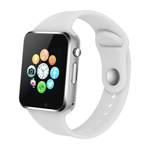 Kkcite Sweatproof Bluetooth Smartwatch Phone in White