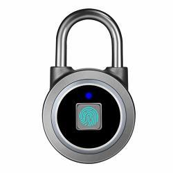 Fingerprint Padlock Bluetooth Lock App IP65 Waterproof Megafeis Smart Padlock With Keyless Biometric Suitable For Gym Sports Bike School Cabinet Garage And Storage