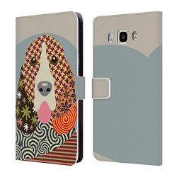 Head Case Designs Official Lanre Adefioye Basset Hound Dogs 1 Leather Book Wallet Case Cover For Samsung Galaxy J7 2016