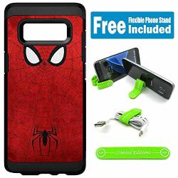 Limited Editions For Samsung Galaxy Note 8 Defender Rugged Hard Cover Case - Spider Man Minimal Red