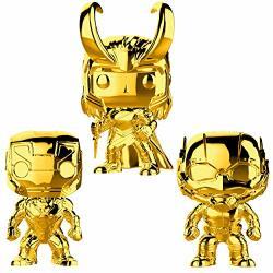 Funko Marvel: Pop Marvel Studios 10 Gold Chrome Collectors Set 1 - Iron Man Ant-man Loki Toy