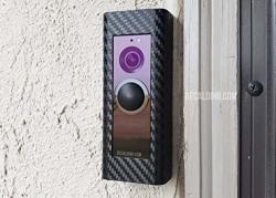 Wrap Skin Kit For Ring Pro Video Doorbell Matte Black