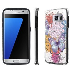 best website e3b6d ef89d NakedShield Galaxy S7 Edge GS7 Edge Case Black Duo Shock Resistant Armor  Case - Sakura Butterfly For Samsung Galaxy S7 Edge | R705.00 | Cellphone ...