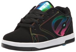 HEELYS Boys Propel 2.0 Sneaker Black Black Red Black Black rainbow Foil 6 UK