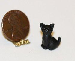 Multi Minis Dollhouse Miniature Black Cat By