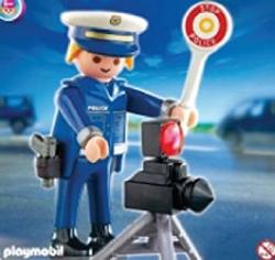 Police Officers 2 Of Playmobil Special Transportation Division 4902