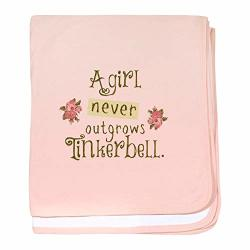 Cafepress A Girl Never Outgrows Tinkerbell Baby Blanket Super Soft Newborn Swaddle