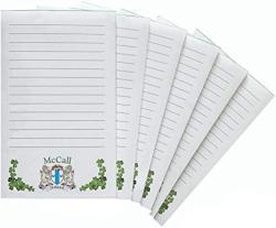 USA Mccall Irish Coat Of Arms Notepads - Set Of 6