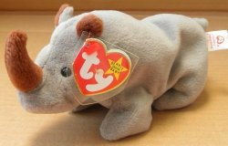 G45361029 Ty Beanie Babies Spike The Rhino Plush Toy Stuffed Animal By Unknown