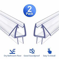 Shower Door Bottom Seal 2 Pack Glass Shower Door Seal Strip Frameless Shower Door - Stop Shower Leaks And Create A Water Barrier