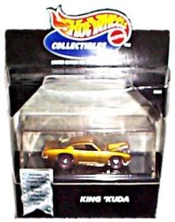 USA Hot Wheels Collectibles - Limited Edition Cool Collectibles - King 'kuda Metalflake Gold - Mounted In Collector's Display Case