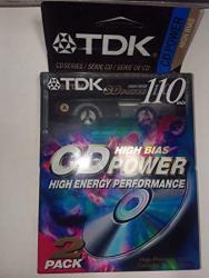 TDK Cd Power 110 Cassette 2PK High Bias Audio Cassette Tapes