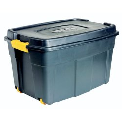 Addis - 110L Roughtote Storage Box Black