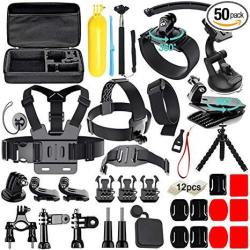 EWarehouse Soft Digits 50 In 1 Action Camera Accessories Kit For Gopro Hero  Accessory Bundle Kit For Gopro HERO6 5 4 3 Xiaomi Yi | R1228 00 | Action