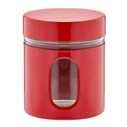 No Brand Glass Canister Red Red Gl