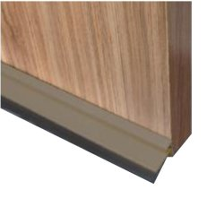 Home Quip Bronze Aluminium Automatic Door Seal With Rubber Strip