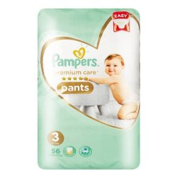 Pampers Premium Care 56 Nappies Size 3 Midi Value Pack