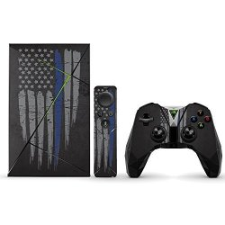 MightySkins Protective Vinyl Skin Decal For Nvidia Shield Tv Wrap Cover Sticker Skins Thin Blue Line