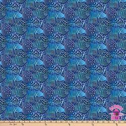 Northcott Muse Scallop Blue Cotton Fabric By The Yard