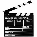 FanMuLin Wooden Director's Film Clapboard Cut Action Scene Clapper Movie Clapper Board Black