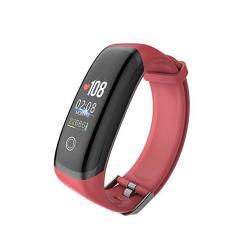 Hemobllo M4 Smart Bracelet Smart Band Blood Pressure Heart Rate Monitor Fitness Tracker Smart Watch Sport Bracelet Black And Red