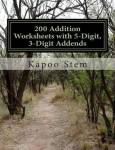 200 Addition Worksheets With 5-digit 3-digit Addends