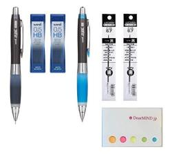 0.5mm 4 Types Total 160 Leads Uni NanoDia Mechanical Pencil Leads Sticky Notes Value Set B