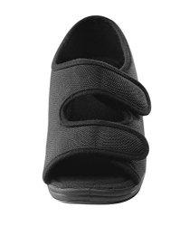 Womens Comfortable Indoor outdoor Sandals With Adjustable Fastener Straps - Black 10