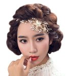 Aniwon Wedding Bridal Bridesmaid Flower Hair Crown Beads Headband With Ribbon Fashion Hair Crown For Party Silver