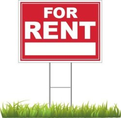 """DGdirect.com For Rent Yard Sign 24"""" X 18"""