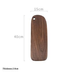 Jiaqi Wooden Cheese Board Bread Board Japanese Household Cutting Boards Premium Durable Kitchen Cutting Board With Hles-m 40X15CM 16X6INCH