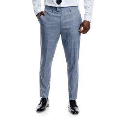 Markham Smart Block Check Trouser Mid Blue