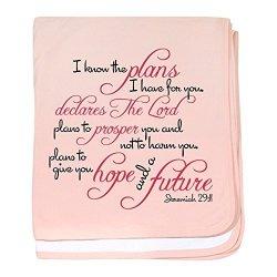 Cafepress - Jeremiah 29:11 Design - Baby Blanket Super Soft Newborn Swaddle