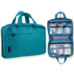 Hanging Toiletry Bag   Cosmetic Organizer - Large Size See-through    Lightweight Medium Teal a9e5da8a4d169